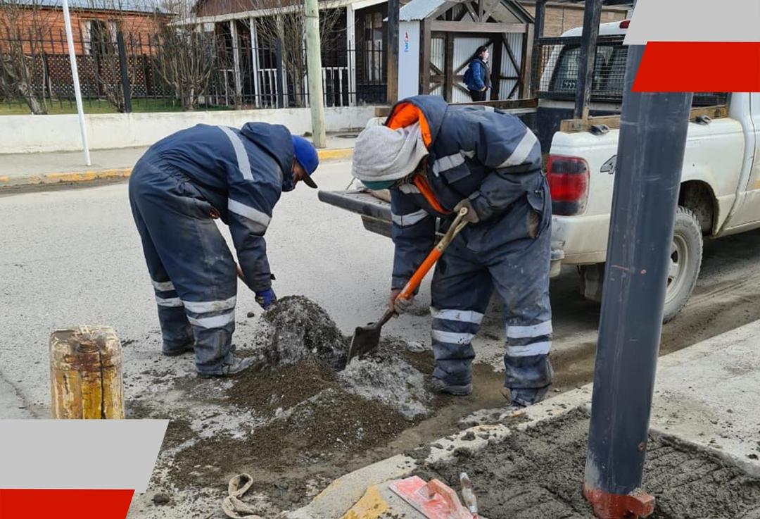 Se continúa con la instalación de semáforos y cruces peatonales sonoros en la ciudad deUshuaia