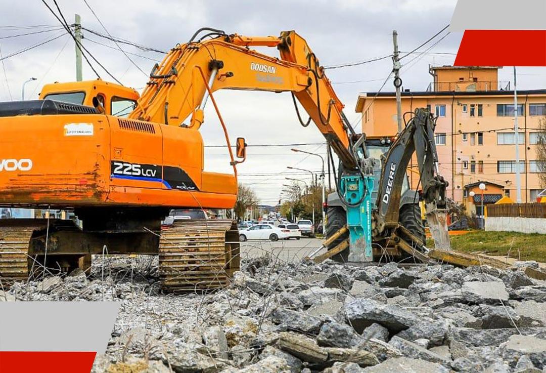 Avanzan los trabajos en la calle Thorne en RíoGrande