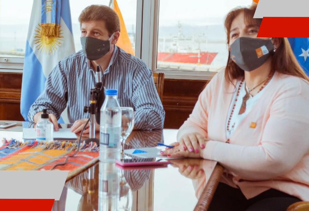 El gobernador Melella arregló un convenio con el ente nacional regulador degas