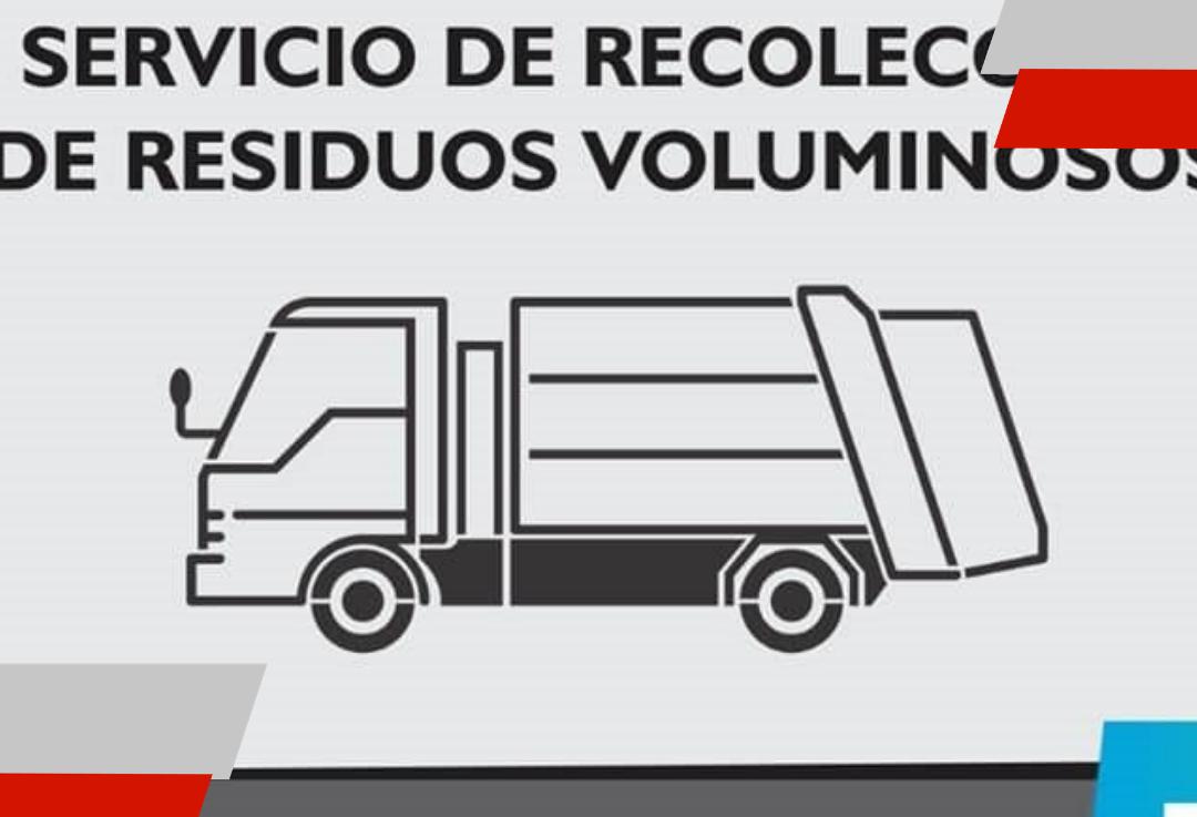 El municipio recuerda el cronograma de recolección de residuosvoluminosos
