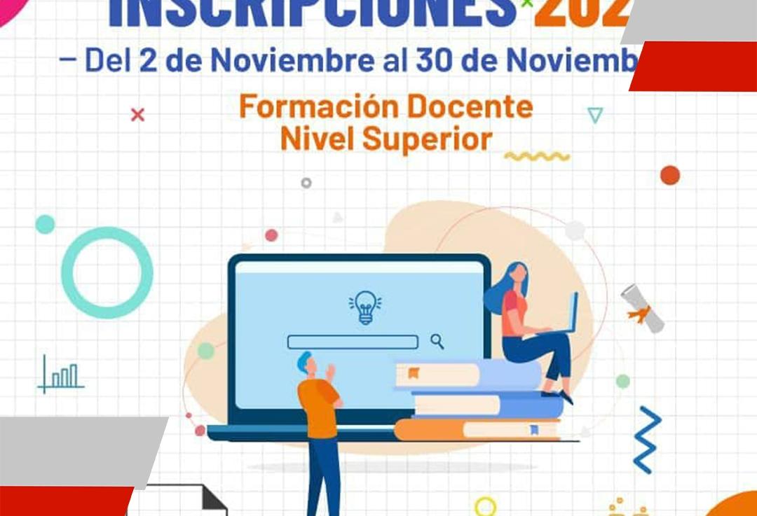 El 2 de Noviembre se abre el periodo de inscripción de los institutos de formación docente de laProvincia