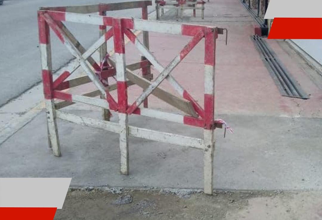 La DPOSS repara veredas y pavimentos que debieron romperse por trabajos en la red de aguapotable