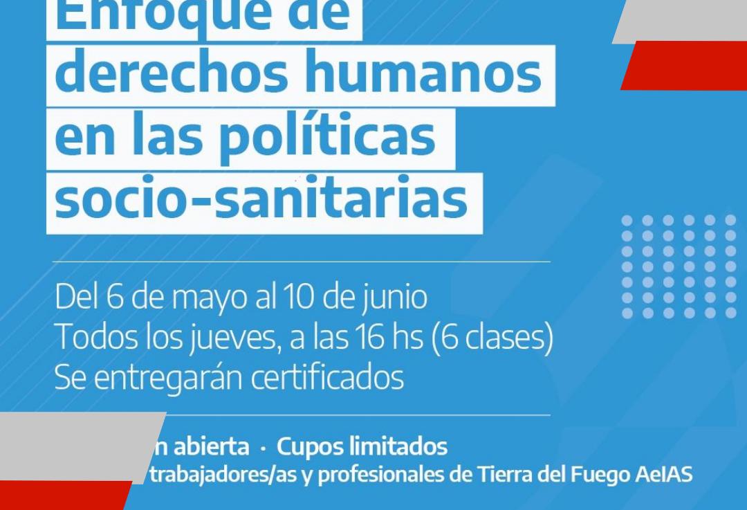 """Ushuaia invita a la capacitación sobre """"Enfoque de Derechos Humanos en las PolíticasSanitarias"""""""
