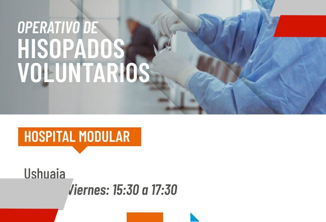 Salud modificó el horario de hisopados voluntarios en el Hospital Modular deUshuaia