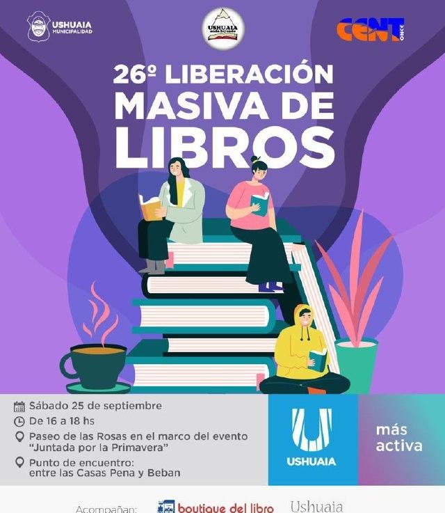 El próximo sábado habrá una liberación masiva de libros en el Paseo de LasRosas
